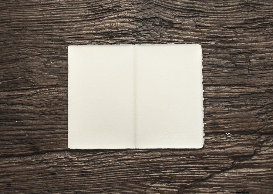 """Folded invitation """"Amatruda"""" ivory"""