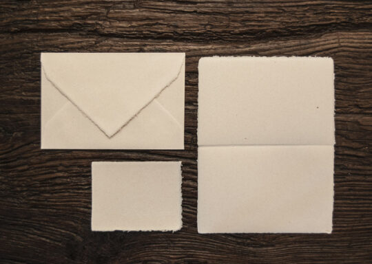 "Folded invitation ""Amatruda"" classic model (straw)"