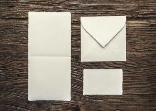 "Folded invitation ""Amatruda"" square model"