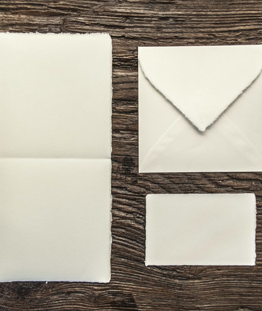 "Folded invitation ""Amatruda"" square model"