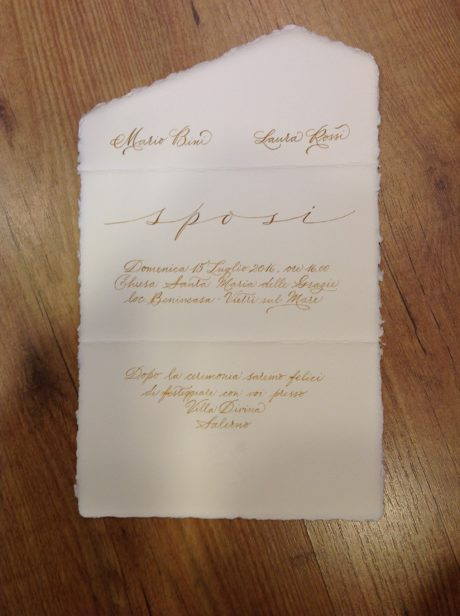 lr line invitation ivory with calligraphy